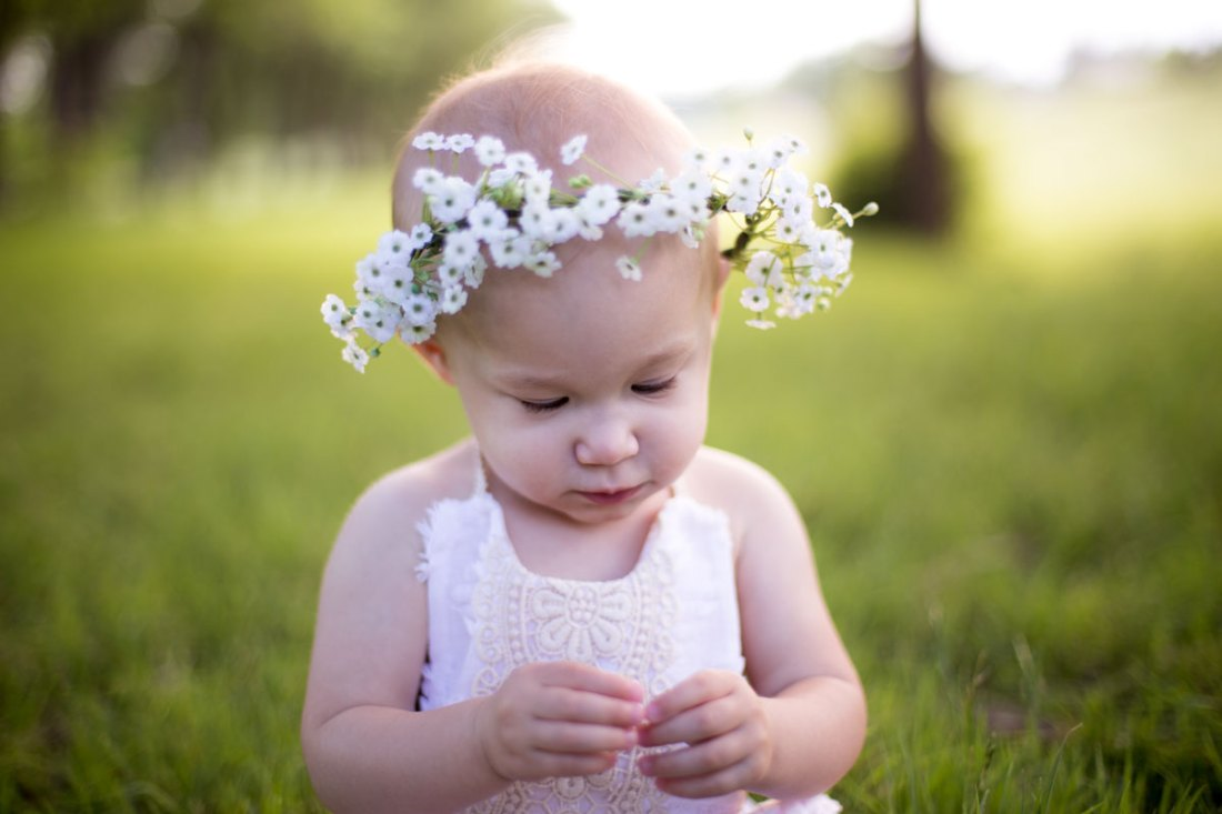 baby flower crown - bohemian baby - 1st birthday outfit