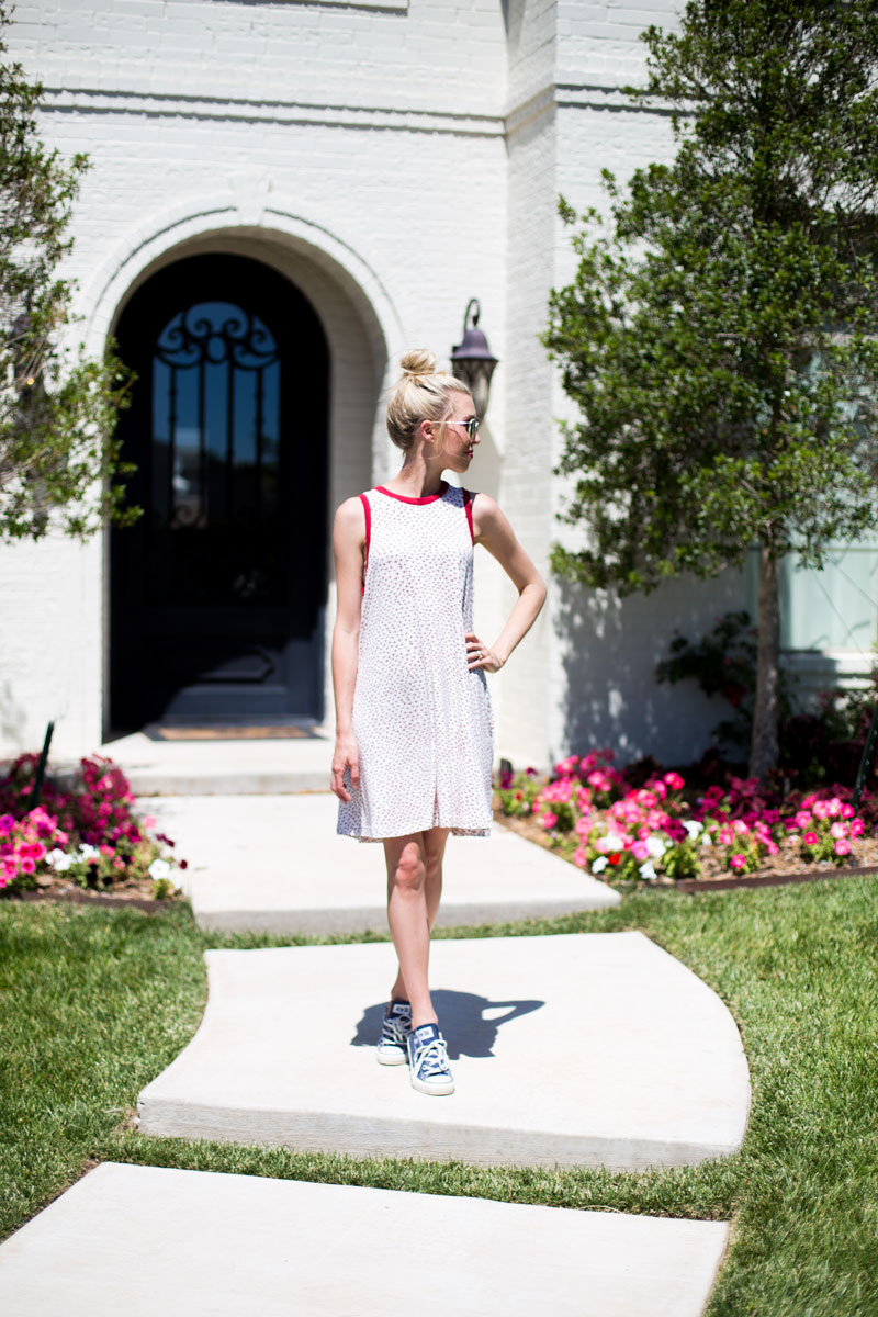 red swing dress - mom style - red summer dress - lubbock style blogger