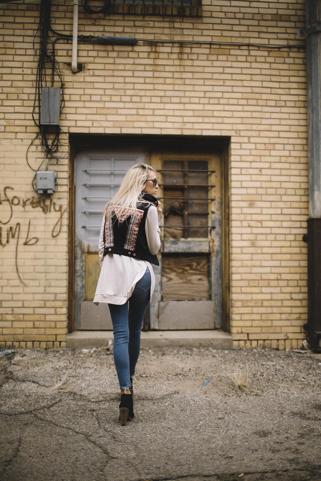 Detailed vest - working mom blog - cool vest - music