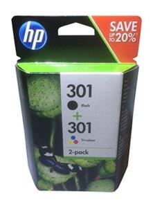 HP 301 2er-Pack Schwarz/Cyan/Magenta/Gelb Original Tintenpatronen