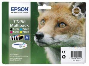 Epson T1285 Tintenpatronen Fuchs, Multipack, 4-farbig