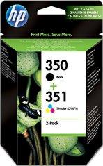 HP SD412EE 350/351 Tintenpatrone schwarz und dreifarbig Schwarz: 200 Seiten, Farbe: 170 Seiten 2er-Pack