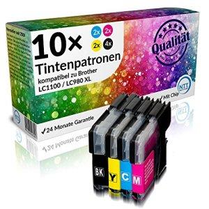 N.T.T.® - 10 STÜCK XL Druckerpatronen, (4x schwarz & je 2x cyan magenta yellow)