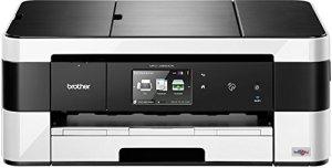 Brother MFC-J4620DW 4-in-1 Farbtintenstrahl-Multifunktionsgerät (WLAN, Farbdrucker, Farbkopierer, Scanner, Fax, 6000 x 1200 dpi, USB 2.0) schwarz/weiß