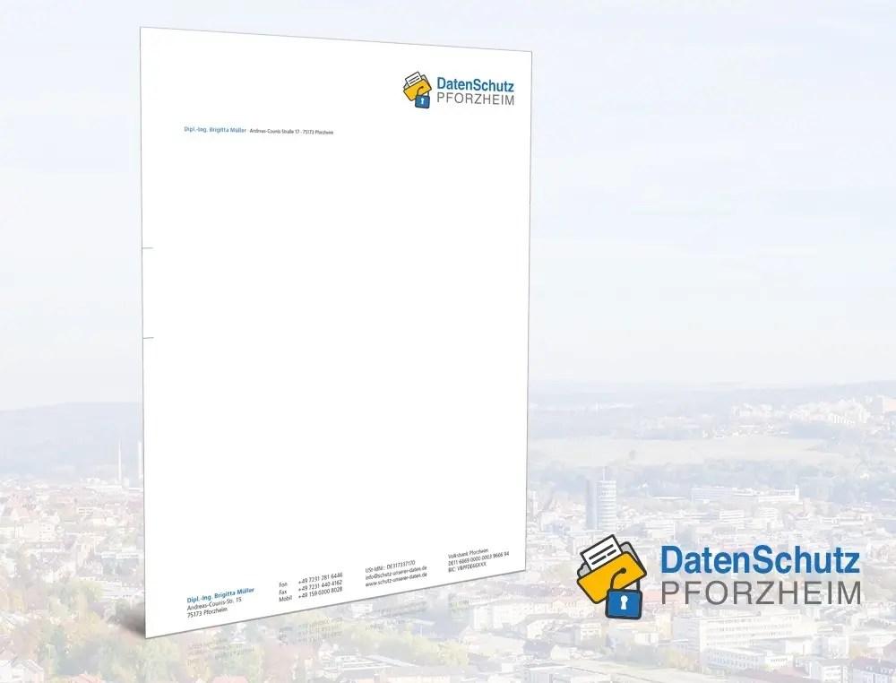 Portfolio Schutzunsererdaten Briefbogen