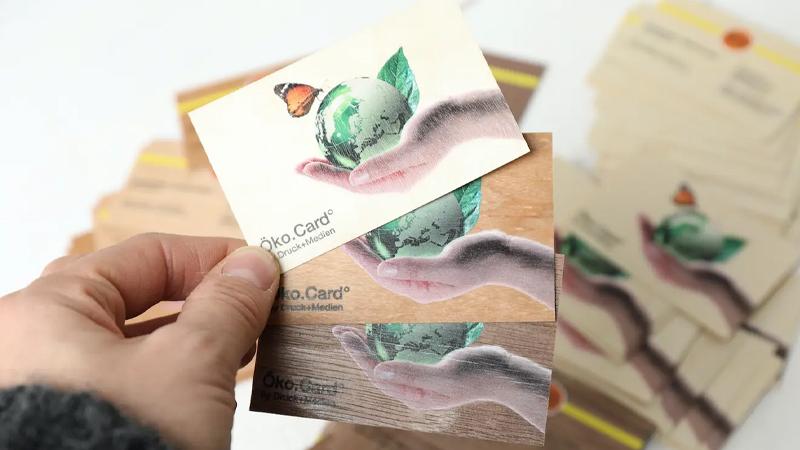 Unsere Öko.Card° aus Holz Von Druck+Medien Heiligenhaus