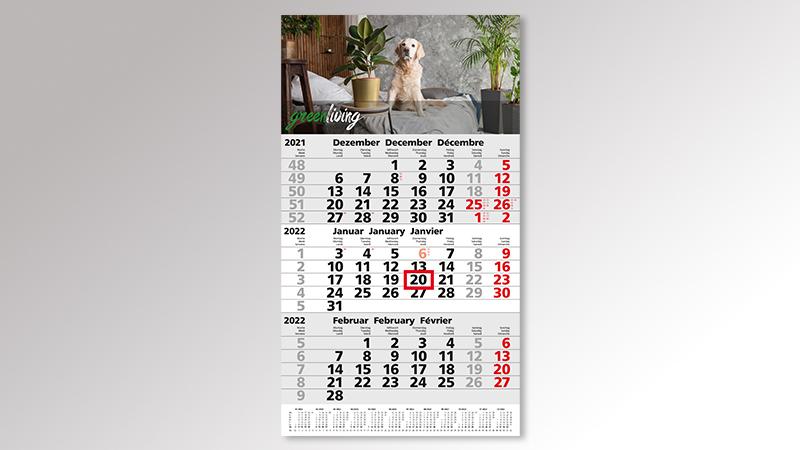 Primus3Post Monatskalender von Druck+Medien Heiligenhaus
