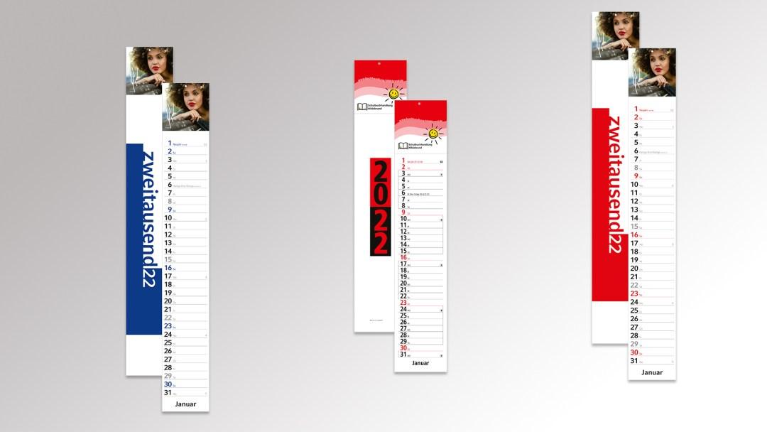 Streifenkalender von Druck+Medien Heiligenhaus