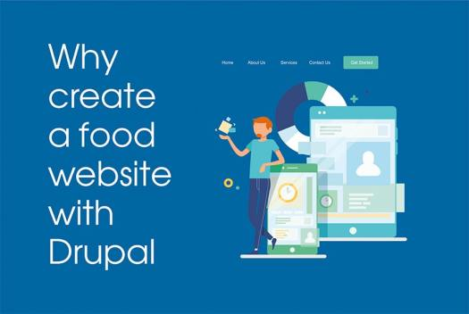 Why create a food website with Drupal