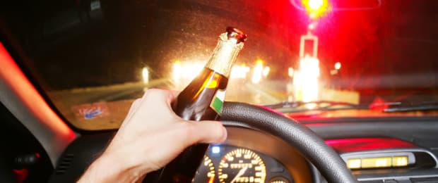 Behind Driver Wheel Drunk