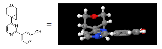 3D conformation of cyclopropyl pyran morpholine isostere compound