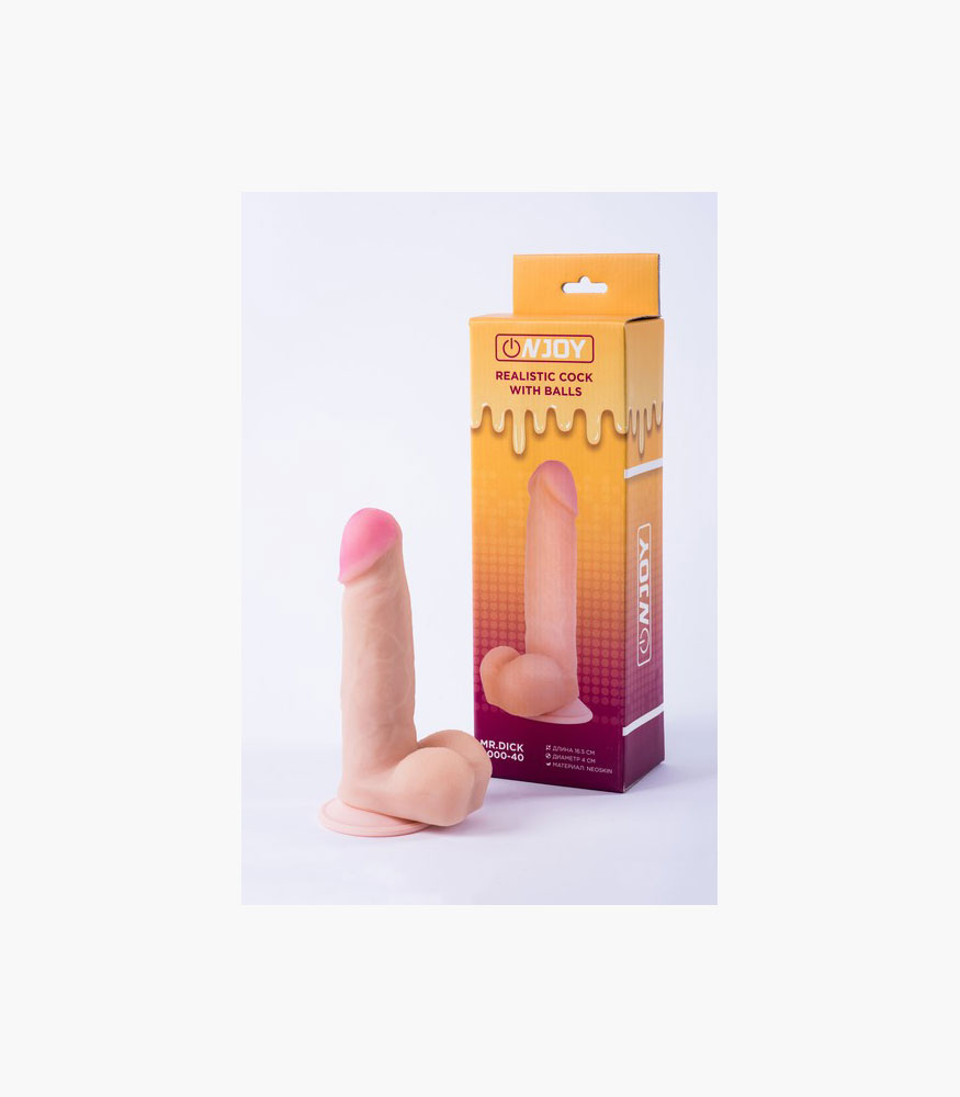 Onjoy Realistic Cock With Balls Mr. Dick