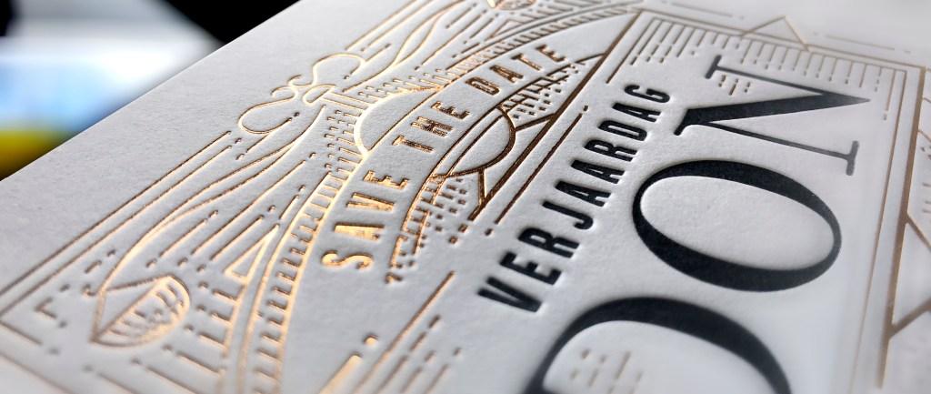Letterpress kaarten en foliedruk