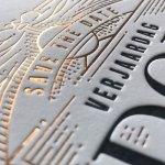 Letterpress kaart voor save the date bij drukkerij RAD