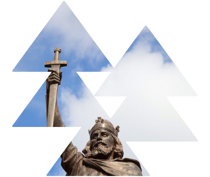 King Aalfred statue - Winchester High Street