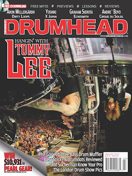 Cover - Drumhead Issue 48 Tommy Lee