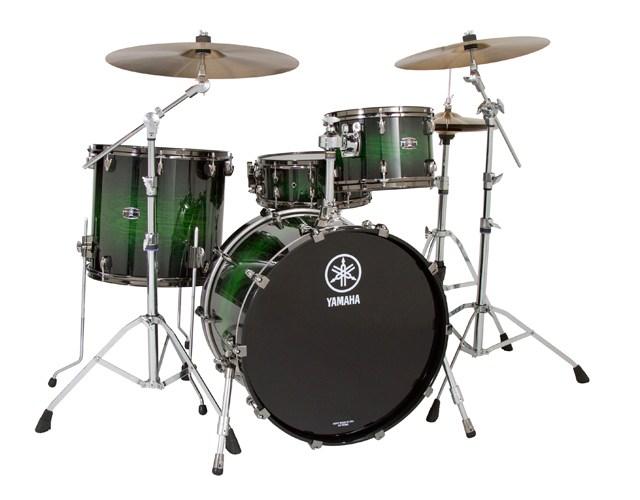 yamaha live custom oak drum set drum magazine. Black Bedroom Furniture Sets. Home Design Ideas