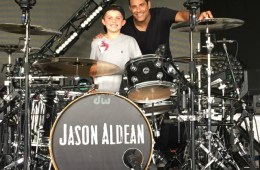 jason aldean roadie for a day drumming