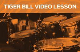 Tiger Bill video drum lesson
