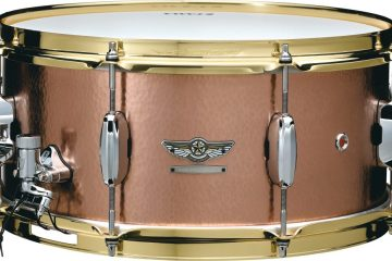 Tama hand-hammered copper snare