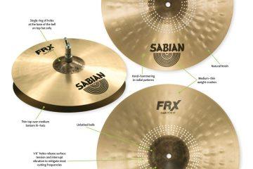 Sabian FRX cymbals