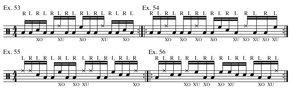 Crossovers Exs. 53-56 Four Surfaces (16ths)