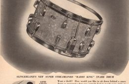 1940 Super Streamlined Radio King snare drum ad