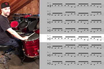 Drum Lesson Single-Stroke Double Bass Drum Fills