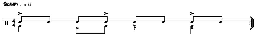 Hey Pocky Way drum pattern