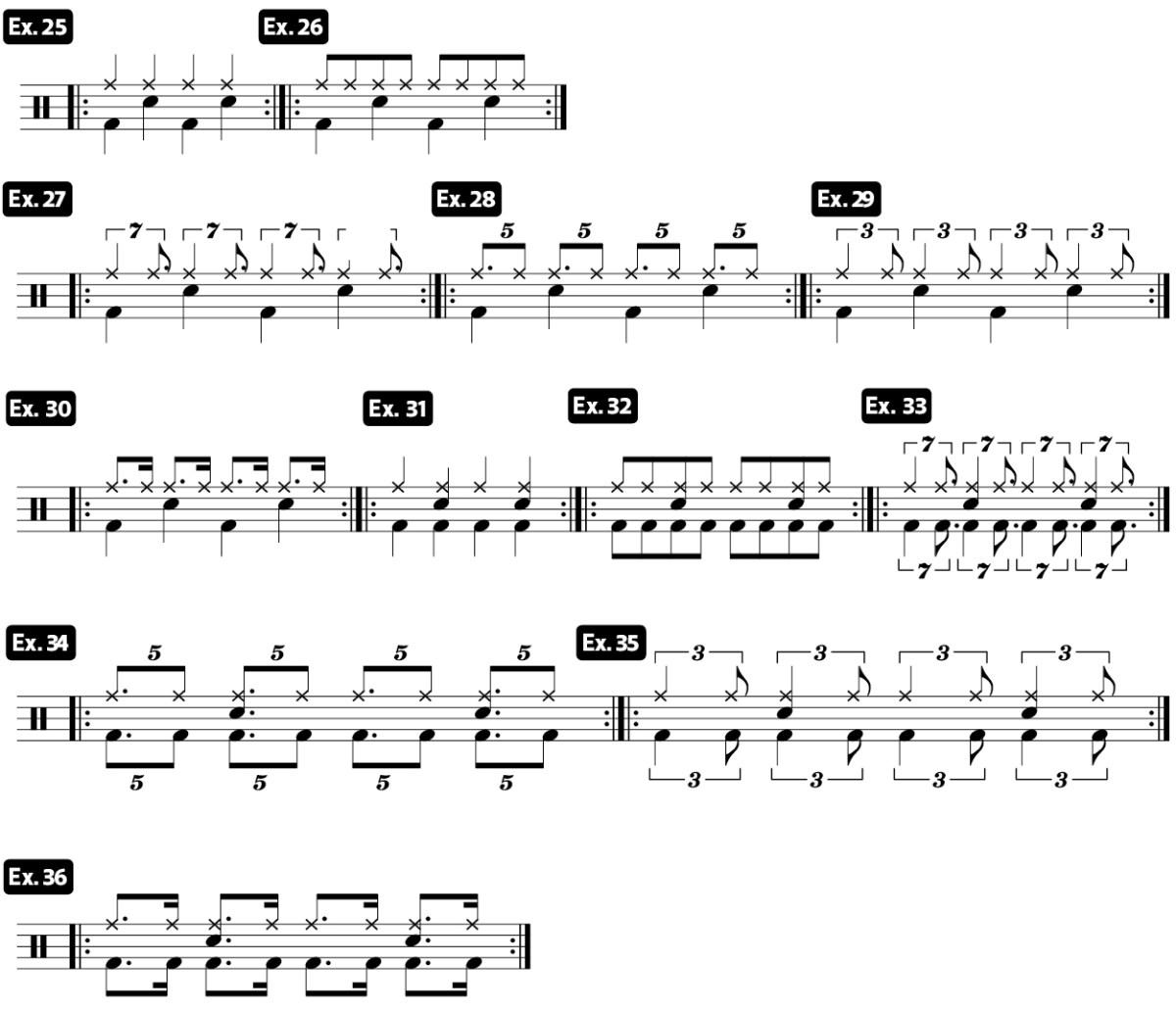 drag beat practice pad drum lesson video ex25_36
