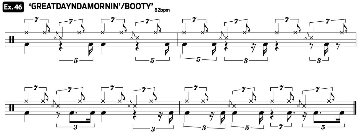 drag beat practice pad drum lesson video ex46