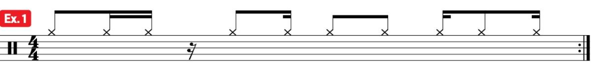 drum afro carribean practice pad fusion groove ex1