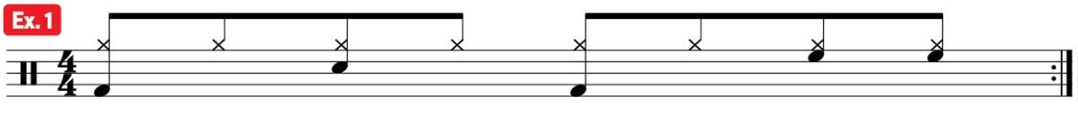drum groove mambo practice pad ex1