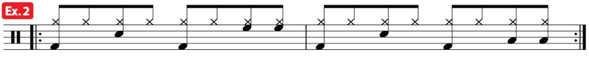 drum groove mambo practice pad ex2