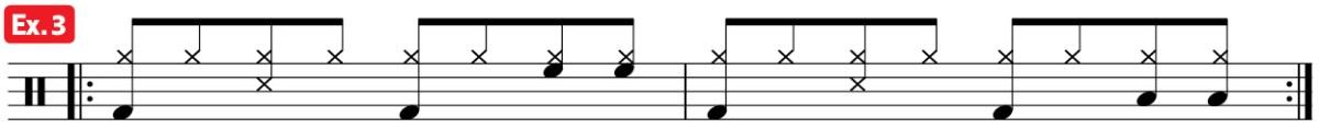 drum groove mambo practice pad ex3