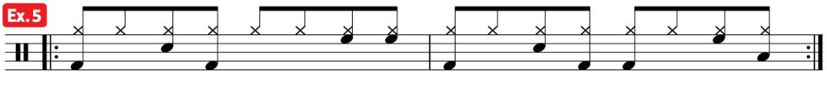 drum groove mambo practice pad ex5