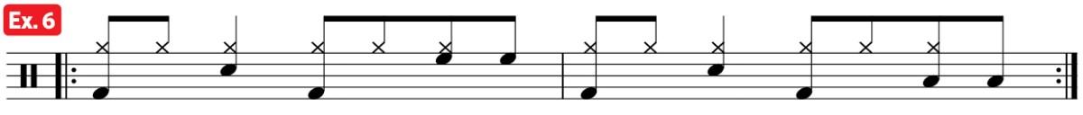 drum groove mambo practice pad ex6