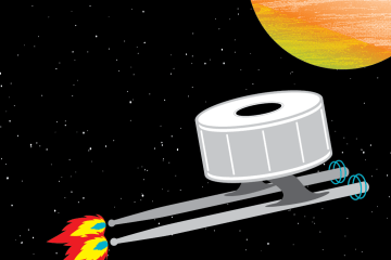 drumstick and snare drum spaceship