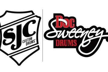 sjc drums, doc sweeney drums logos