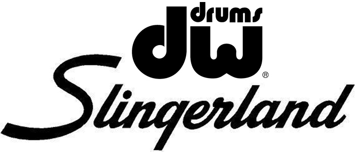 dw and slingerland drums logos