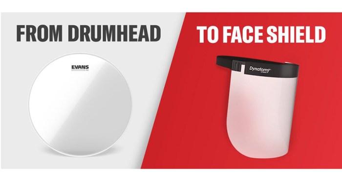 evans drumhead face shield