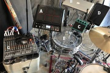 hybrid drum setup
