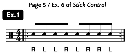 diddle in the middle drum exercise