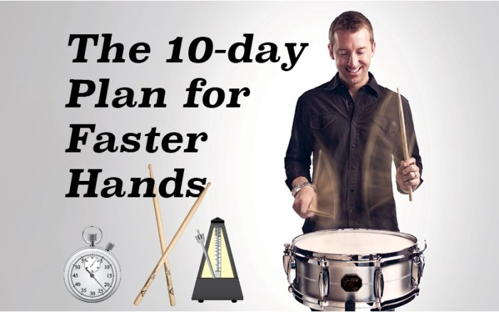 10 day drumming plan for faster hands
