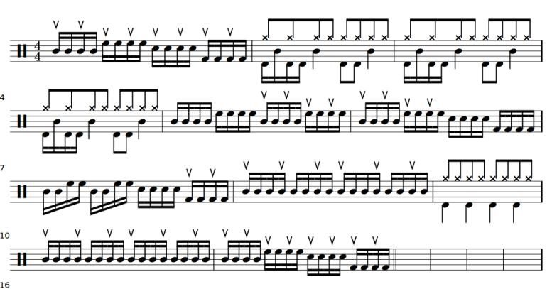 Partition Antoine fete de la musique 2014 -batterie