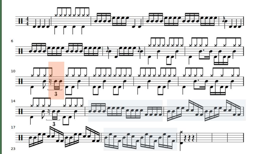 fete de la musique 2014 partition de batterie