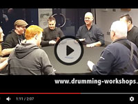 Drumming Workshops table rehearsal. Putting the fun back into rehearsals...