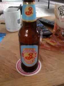 A 12oz bottle of Brooklyn Brewery Brooklyn Summer Ale