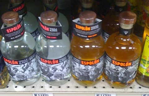 Bottles of Espolón Tequila on sale for $19.99 at Path Liquors in Medford
