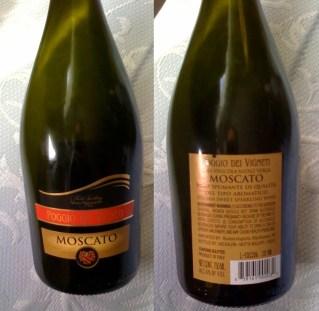 Poggio del Vigneti Moscato front and back label